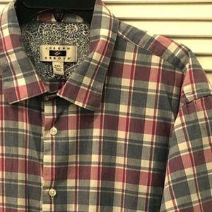 JOSEPH ABBOUD Plaid Button Down Shirt
